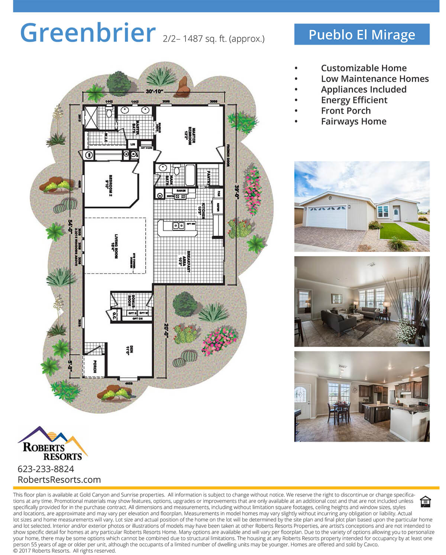 Pueblo El Mirage - Model Home - Greenbrier