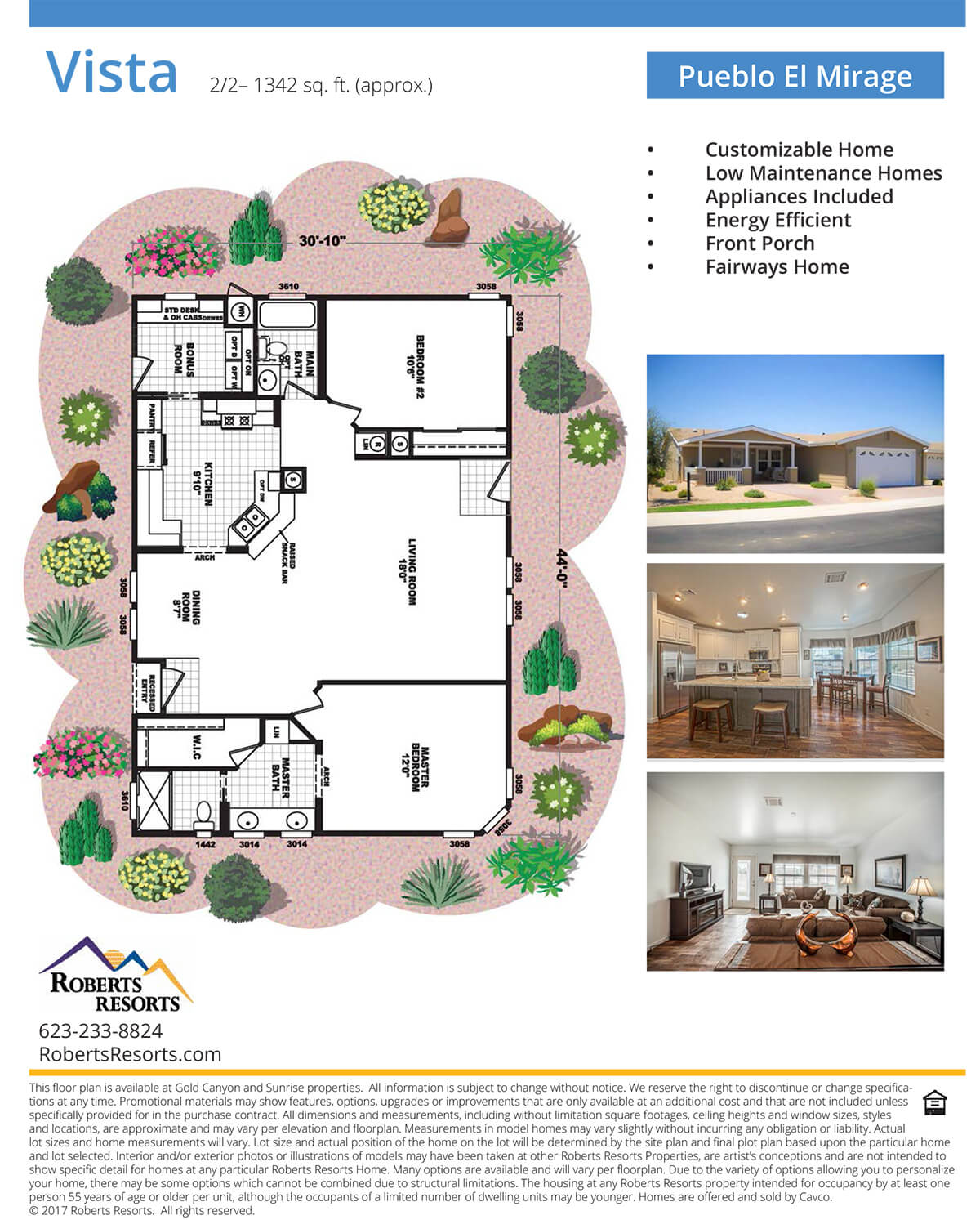 Pueblo El Mirage - Model Home - Vista